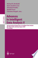 Advances in Intelligent Data Analysis: 5th International Symposium on Intelligent Data Analysis, IDA 2003, Berlin 2003, Proceedings