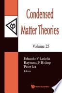 Condensed Matter Theories Vol 25