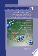 Non-Linear Optical Properties of Matter: From Molecules to Condensed Phases